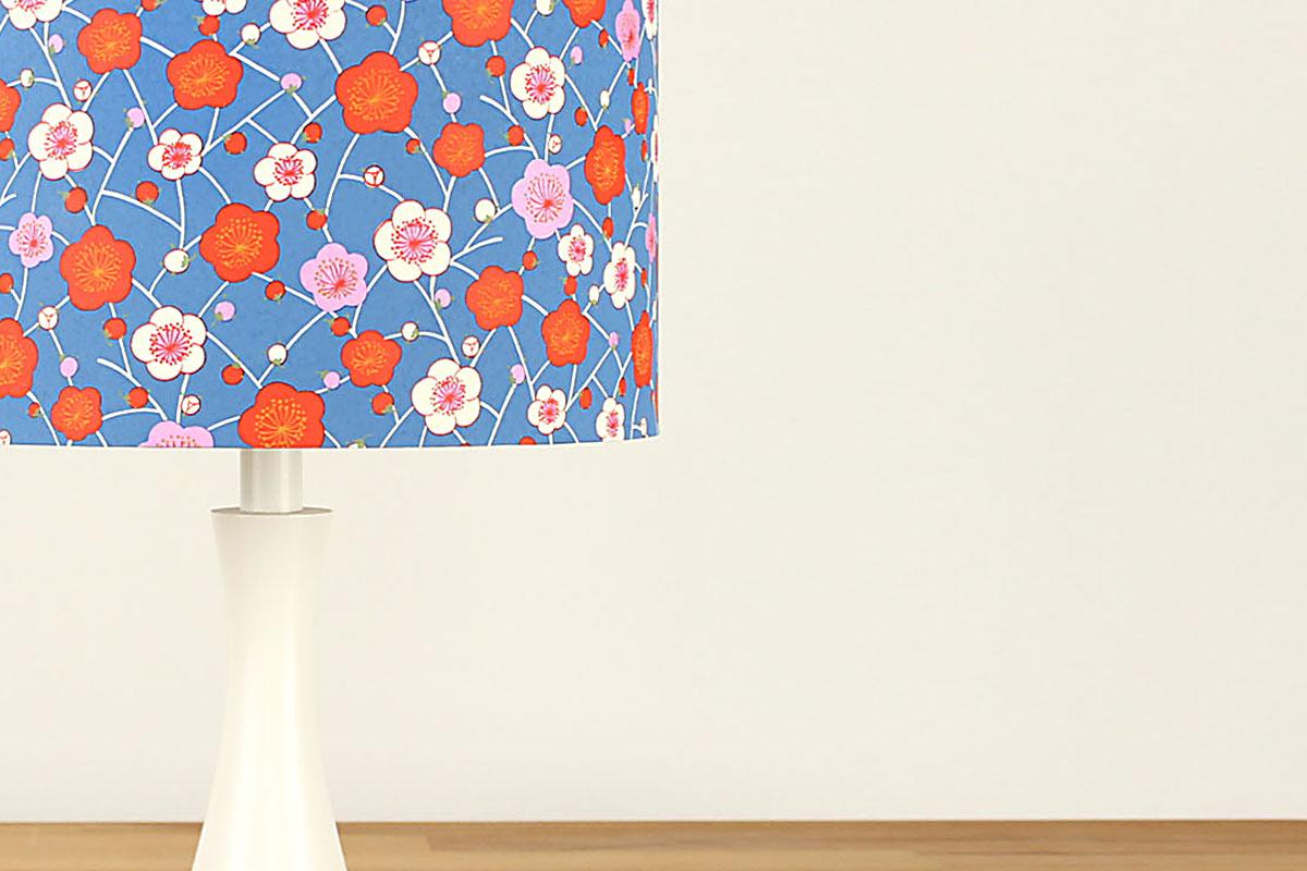 Tischlampe Bunte Kirschblueten