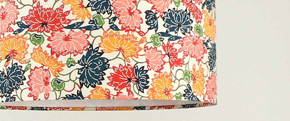 Lampenschirm Chrysanthemen