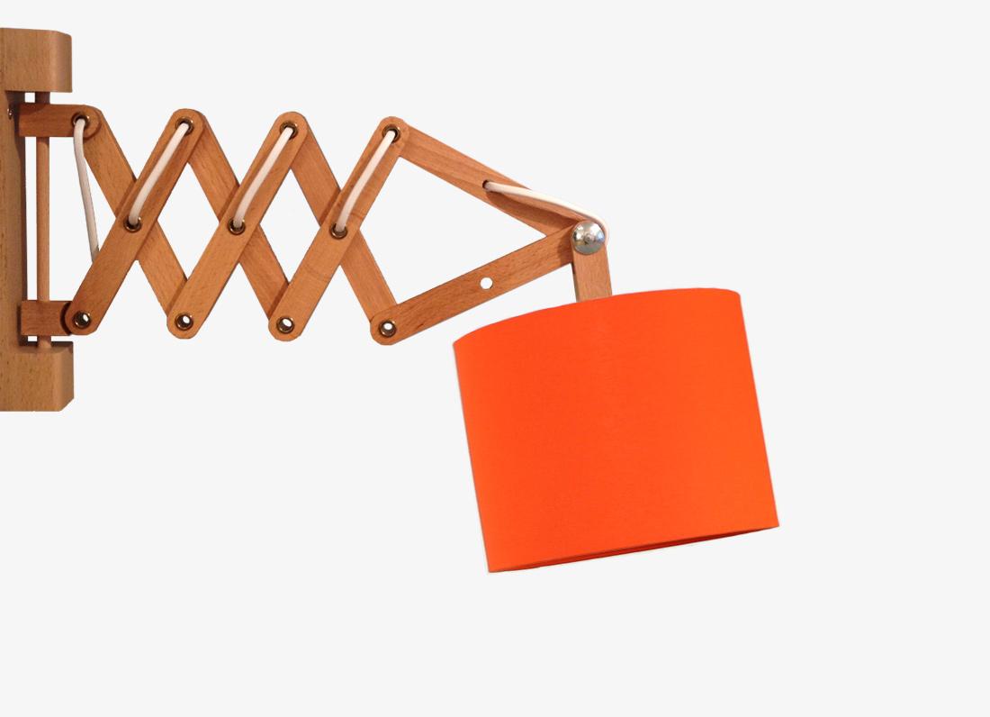 Scherenlampe orange