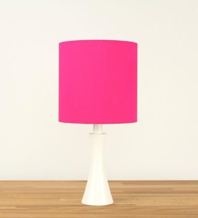 Tischlampe Pink - Textil / Holz