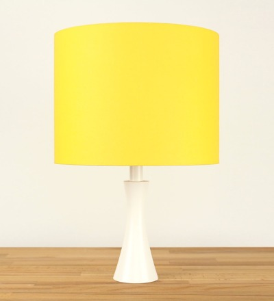 Tischlampe Gelb - Textil / Holz