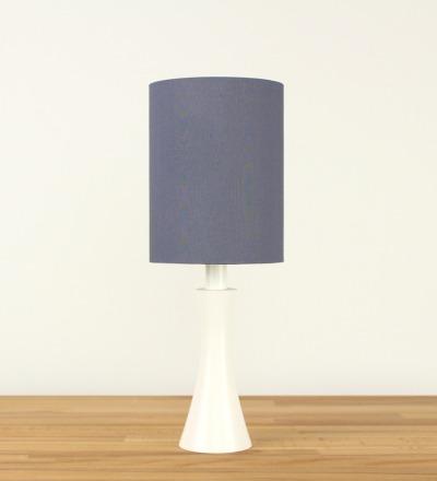 Tischlampe Grau - Textil / Holz