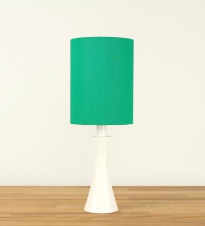 Tischlampe Gruen - Textil / Holz