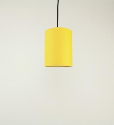Lampenschirm gelb - Textil 15cmx20cm