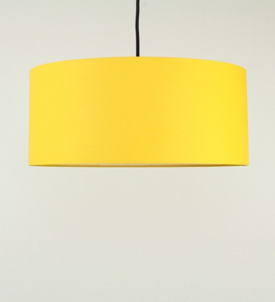 Lampenschirm gelb - Textil 50x25cm
