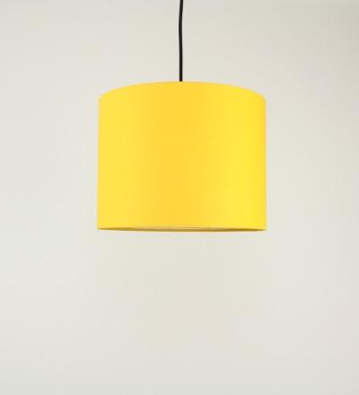 Lampenschirm gelb - Textil 30x23cm