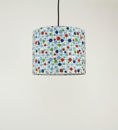 Lampenschirm 50er Dots - Japanpapier 29 x 23 cm