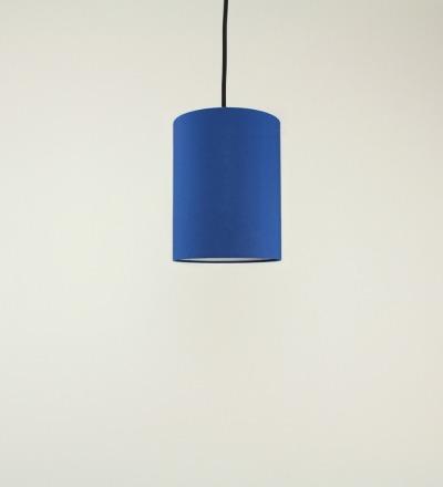 Lampenschirm blau - Textil 15cmx20cm