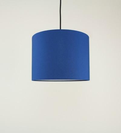 Lampenschirm blau - Textil 30x 23cm