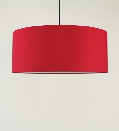 Lampenschirm rot - Textil 50x25cm