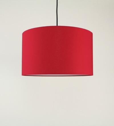 Lampenschirm rot - Textil 40cmx 23cm