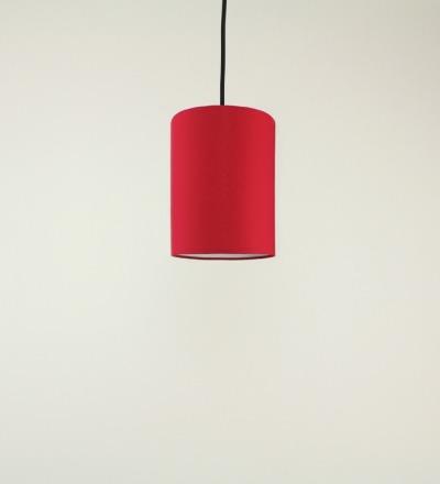 Lampenschirm rot - Textil 15cmx20cm
