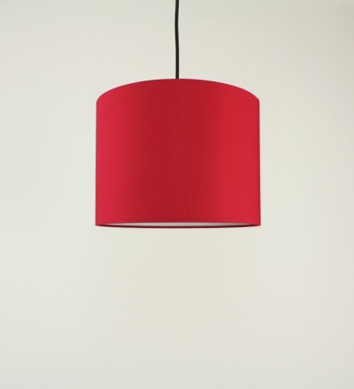 Lampenschirm rot - Textil 30x23cm