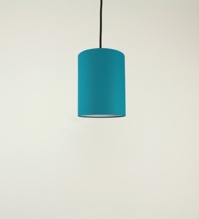 Lampenschirm petrol - Textil 15cmx20cm
