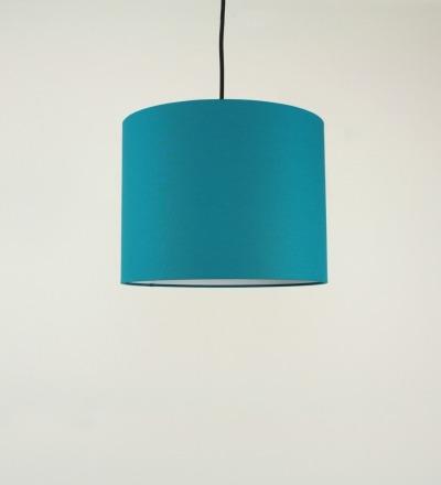 Lampenschirm petrol - Textil 30x23cm