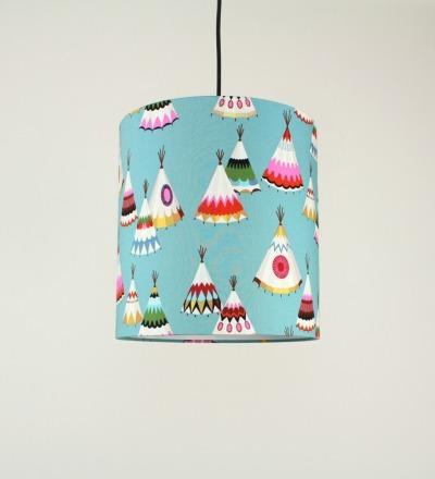 Lampenschirm Tipi - Textil 30x32cm
