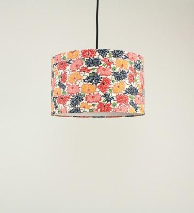 Lampenschirm Chrysanthemen - Japanpapier 29 x 18cm