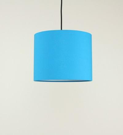 Lampenschirm azur - Textil 30x 23cm