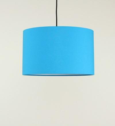 Lampenschirm azur - Textil 40cmx 23cm