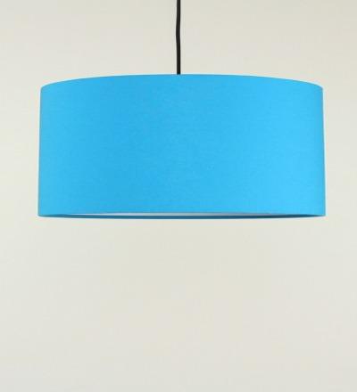 Lampenschirm azur - Textil 50x25cm