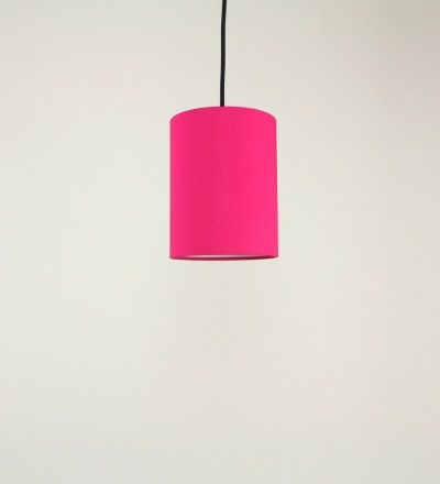 Lampenschirm pink - Textil 15cmx20cm
