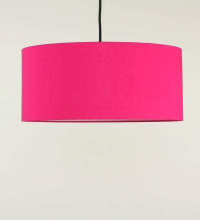 Lampenschirm pink - Textil 50x25cm