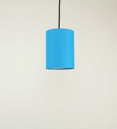 Lampenschirm azur - Textil 15cmx20cm
