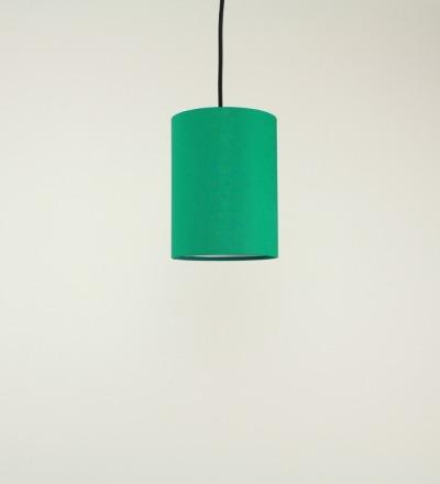 Lampenschirm gruen - Textil 15cmx20cm