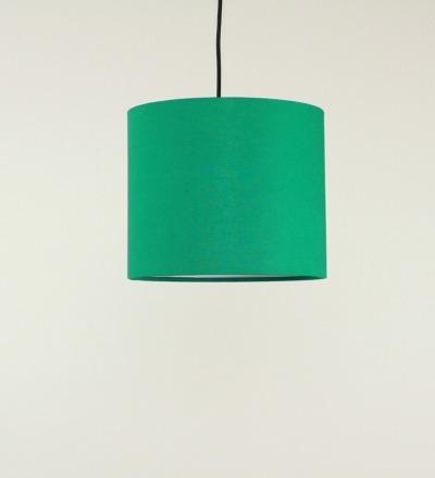 Lampenschirm gruen - Textil 30cmx 23cm