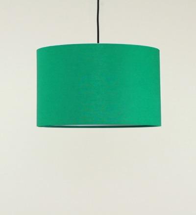Lampenschirm gruen - Textil 40cmx 23cm