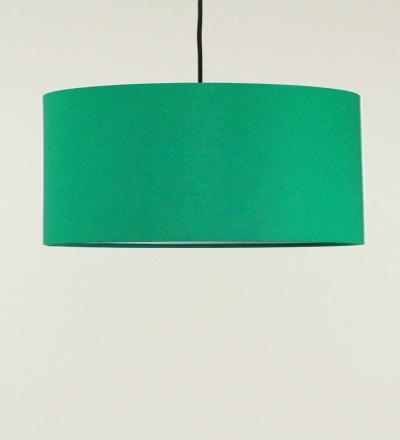 Lampenschirm gruen - Textil 50x25cm