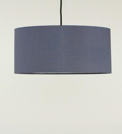 Lampenschirm grau - Textil 50x25cm
