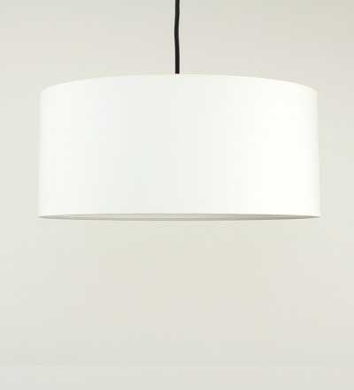 Lampenschirm weiss - Textil 50x25cm
