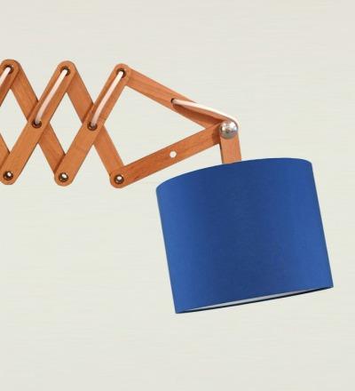 Scherenlampe blau - Textil