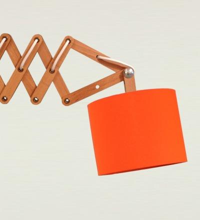 Scherenlampe orange - Textil