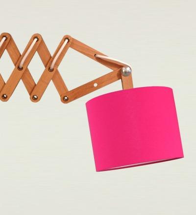 Scherenlampe pink - Textil