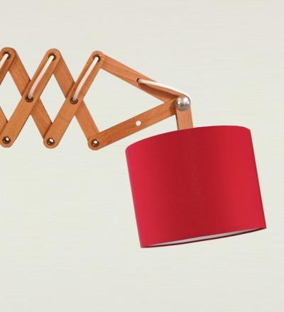 Scherenlampe rot - Textil