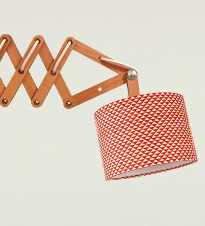 Scherenlampe Triangle - Japanpapier