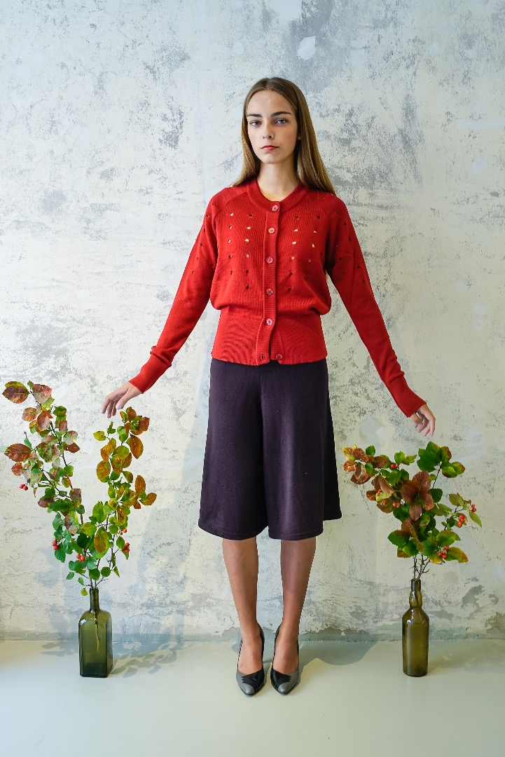 Cardigan MIKKA red rose
