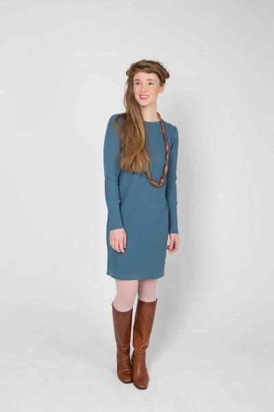 Dress POLLY Schmeichelhaftes Strickkleid mit Strukturmuster