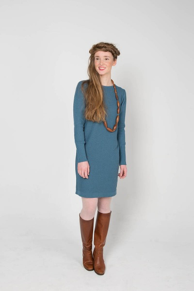 Dress POLLY - Schmeichelhaftes Strickkleid mit Strukturmuster