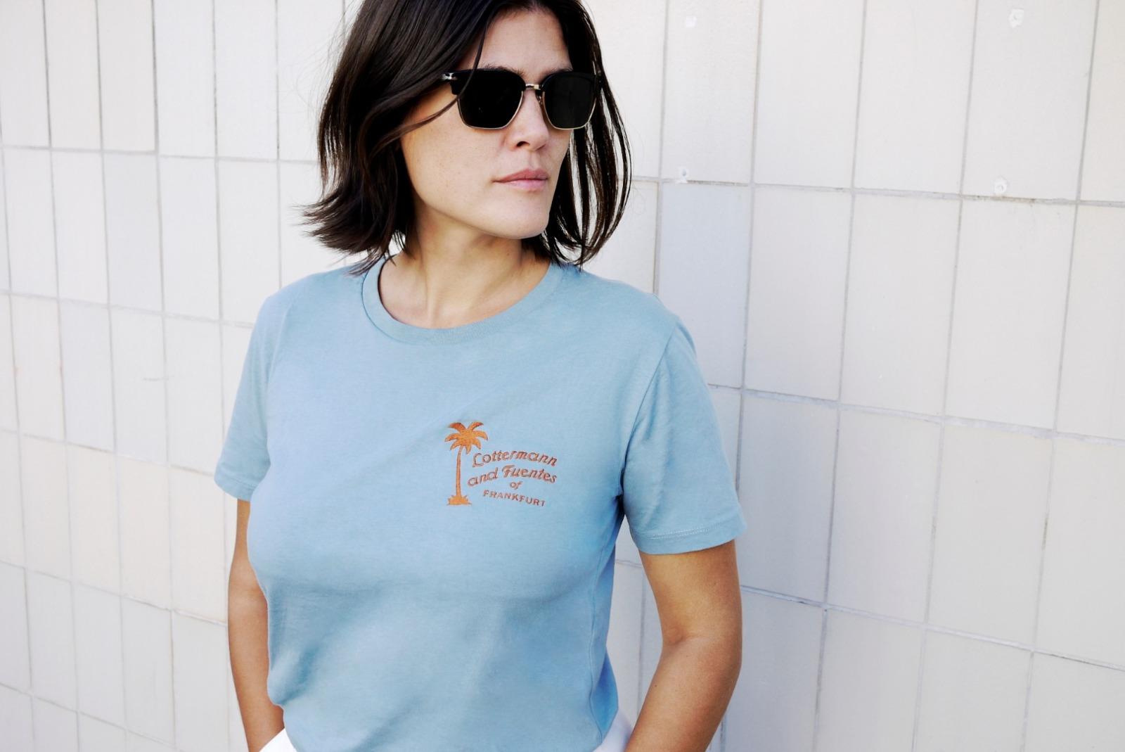 summer palm T-shirt blue - 1