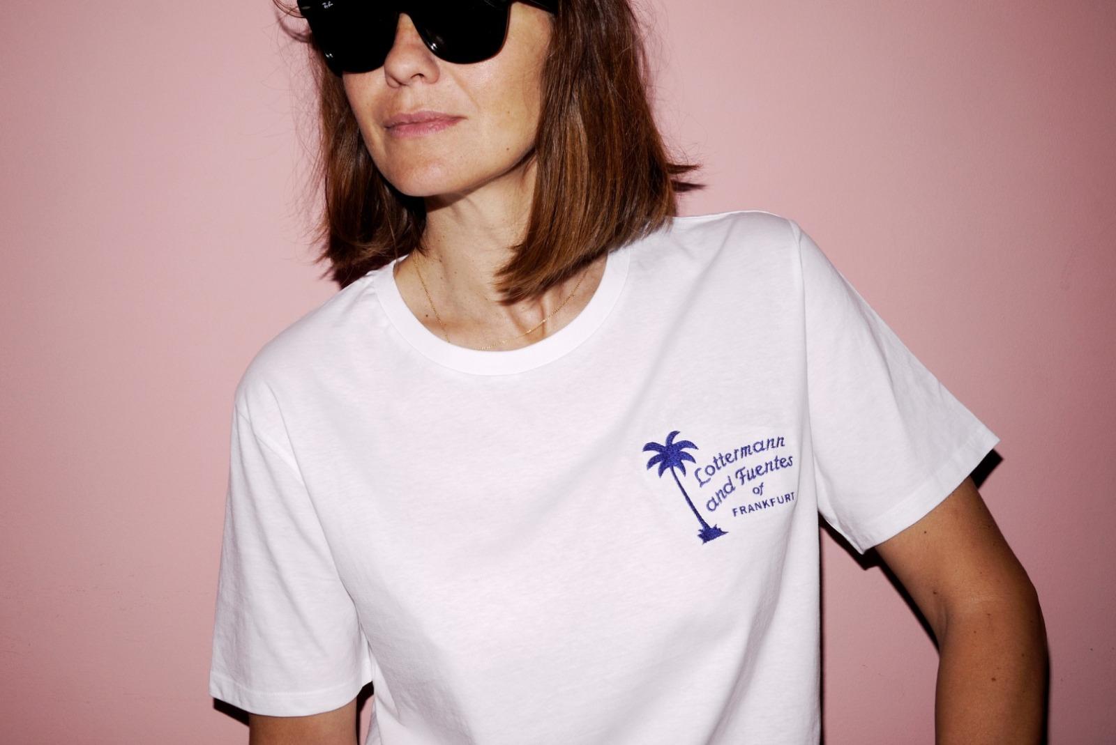 summer palm T-shirt white