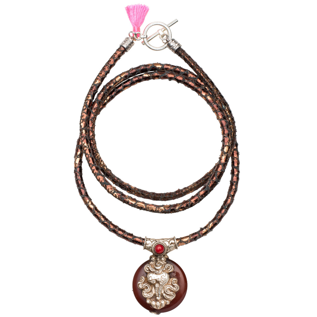 The Carneol Snake Necklace - 1