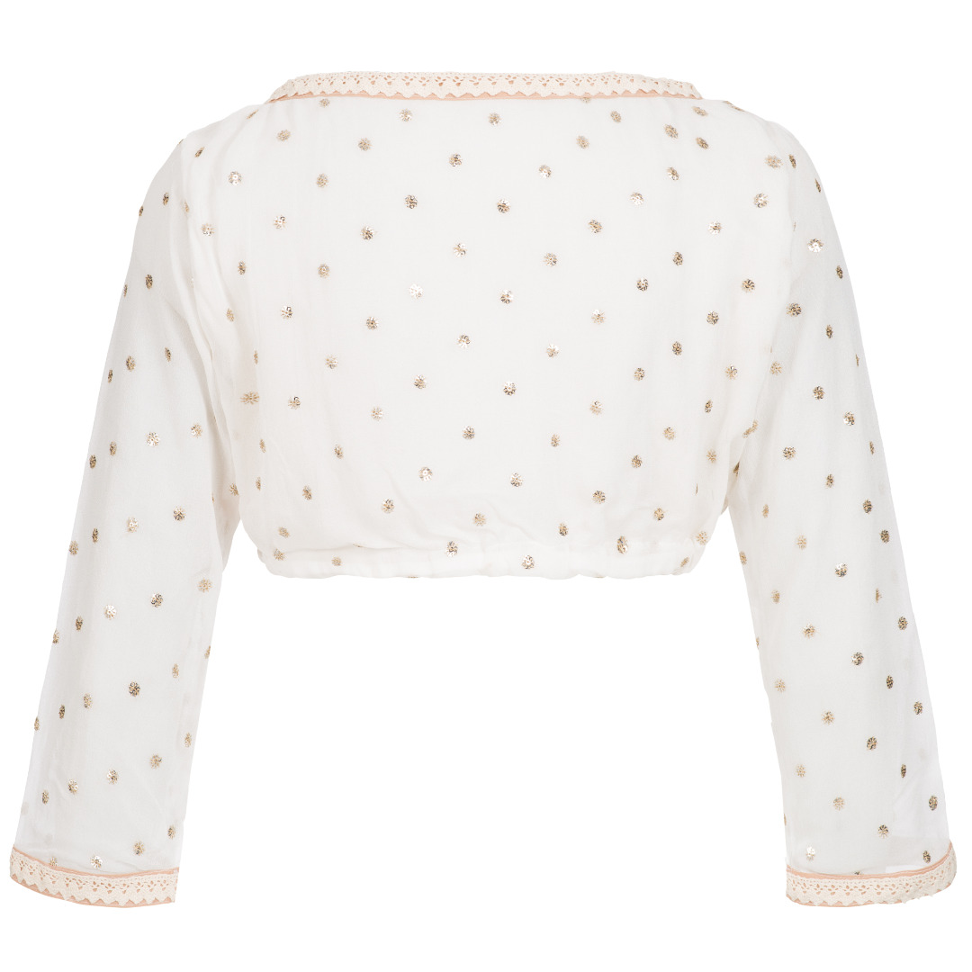 Sequined silk cropped Blouse 2