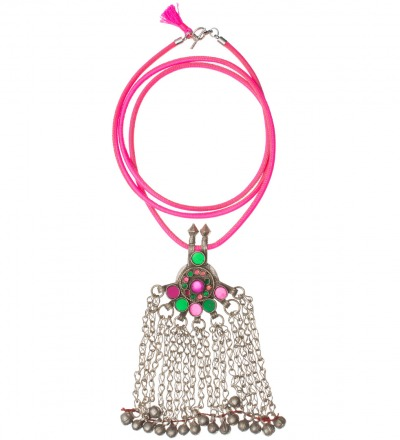 Ancient jeweled Necklace pink