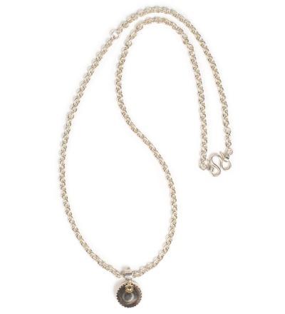 DZI Chain - Dzi Eyebead silver chain