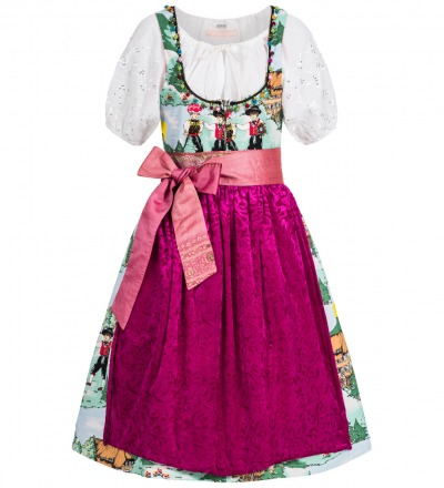 Gebirgstracht Black Forrest - Dreamy Dirndl set in Black Forrest pattern.