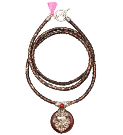 The Carneol Snake Necklace