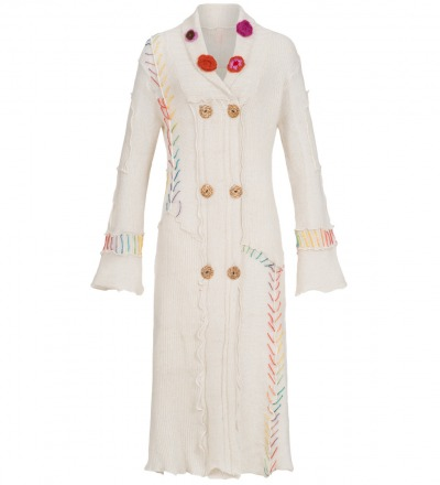 New - Age - Coat - Long - Maxi - Inspired by the 70 s knit, for vintage loving trend makers.